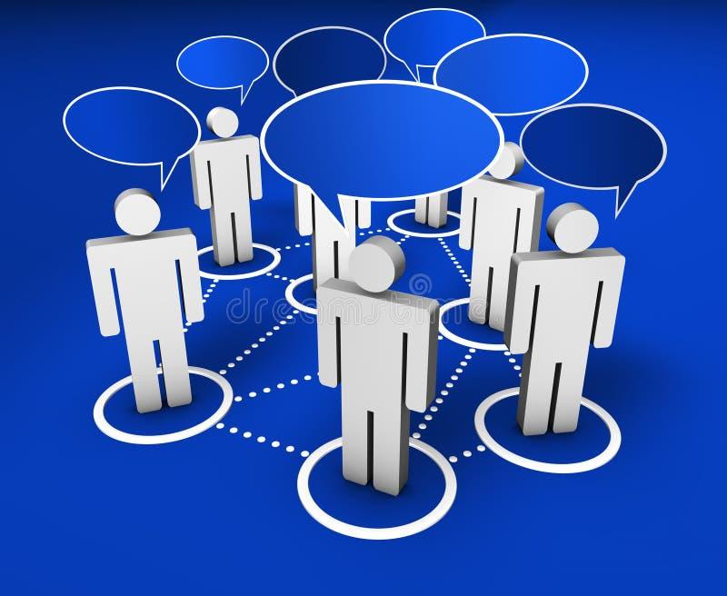 De sociale Gemeenschap van Internet van het Netwerk stock illustratie