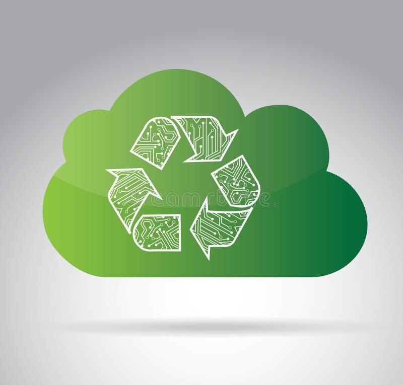 Betrekt recyclingsontwerp vector illustratie