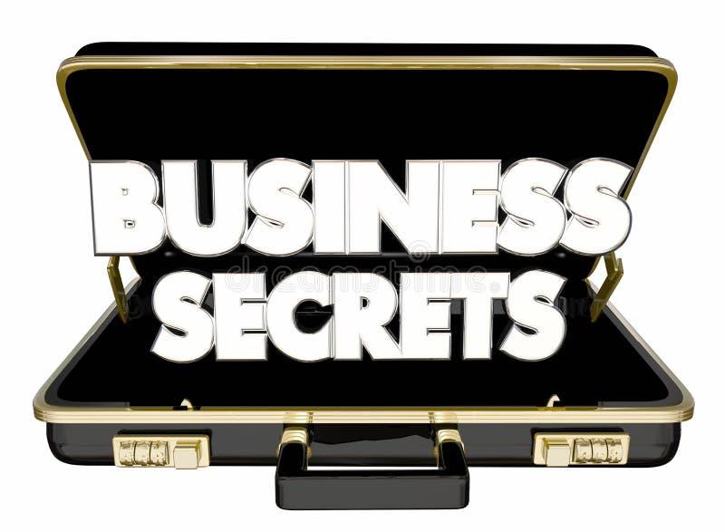 Betriebsgeheimnisse Aktenkoffer klassifiziertes vertrauliches Geschäfts-Informa lizenzfreie abbildung