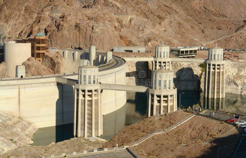 Betriebsleistung-Rasterfeld Hoover-Damb elektrisches stockbild