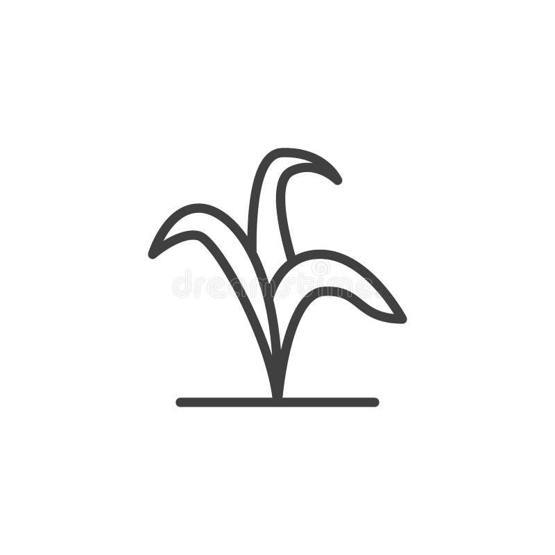 Betriebsstammlinie Ikone lizenzfreie abbildung
