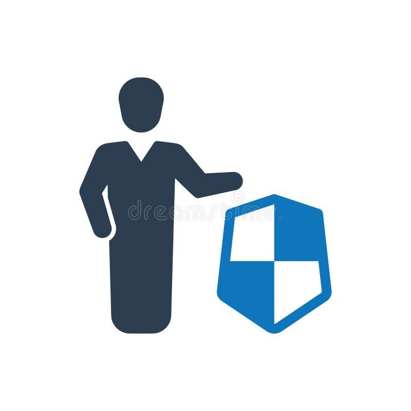 Betriebsversicherungs-Ikone lizenzfreie abbildung