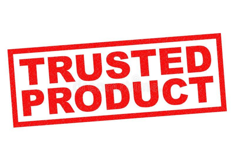 Betrodd produkt stock illustrationer
