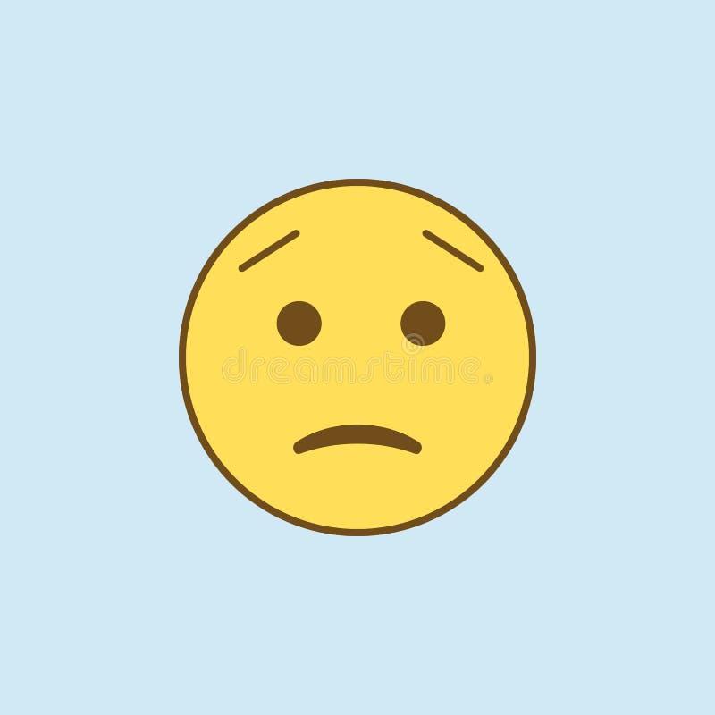 betroffen ongeveer 2 rassenbarrièrepictogram Eenvoudige gele en bruine elementenillustratie bezorgd geweest over het symboolontwe royalty-vrije illustratie