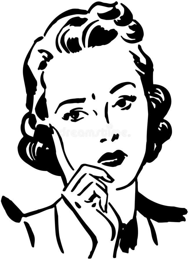 Betrokken Vrouw royalty-vrije illustratie