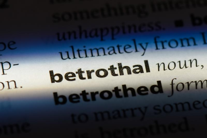 betrothal imagenes de archivo