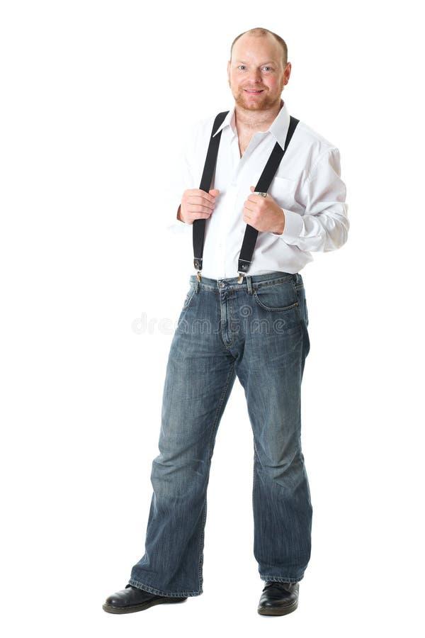 Betrouwbare volwassen mannelijke, volledige lichaamsspruit royalty-vrije stock foto
