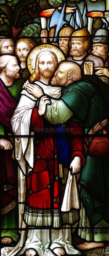 Betrrayal Иисуса Христоса стоковая фотография
