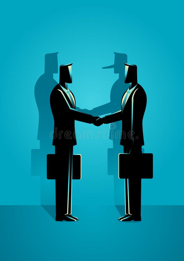Betrugs-Vereinbarungs-Konzept lizenzfreie abbildung