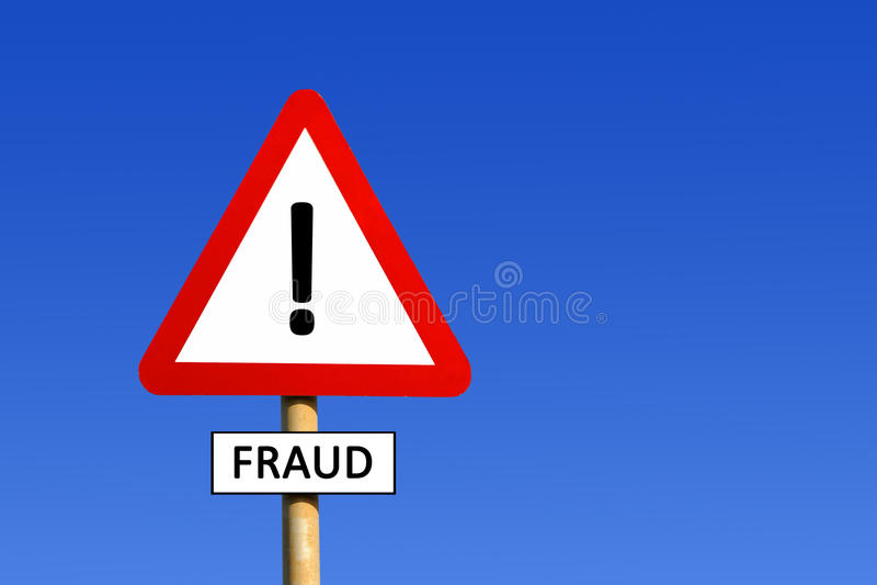Betrugs-WARNING lizenzfreie stockfotografie