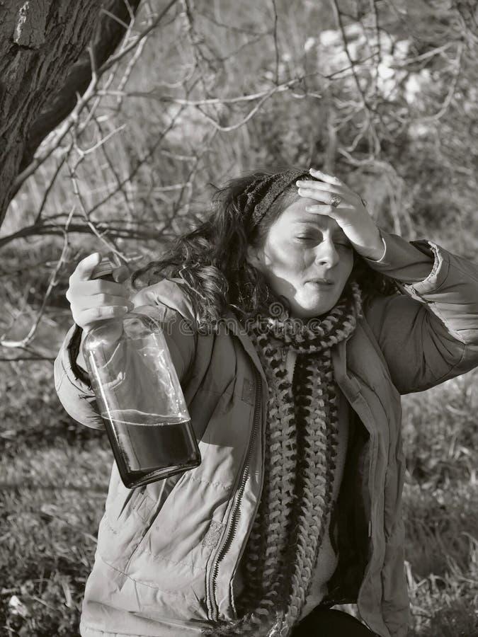 Betrunkene Frau 5 stockfotos