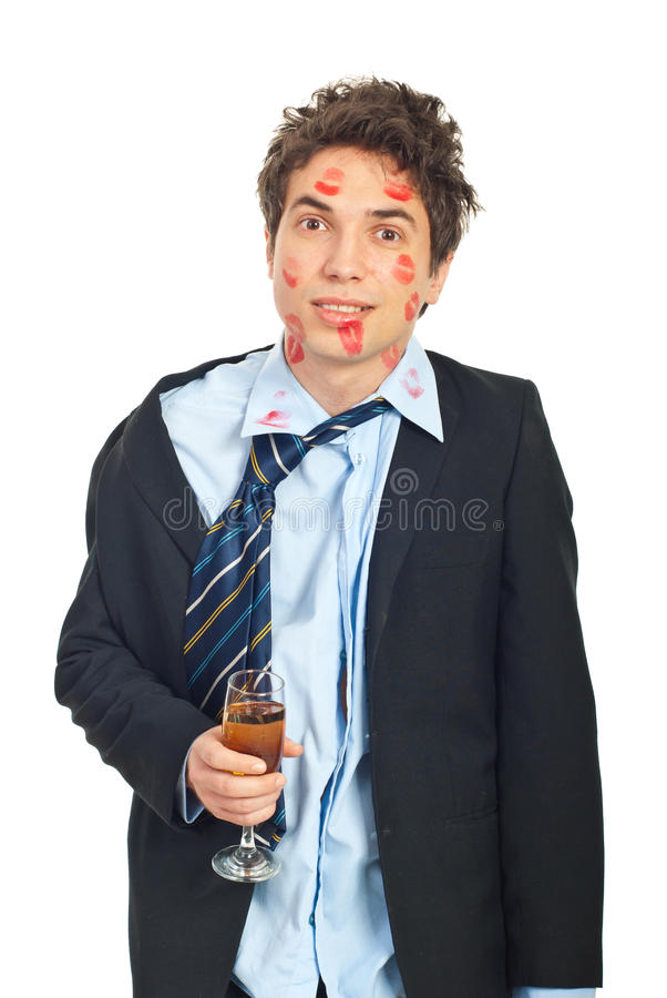 Betrunkener Geliebtmann stockfotografie