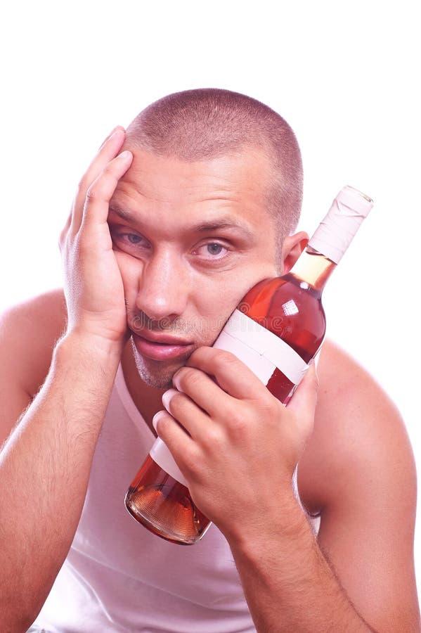 Betrunkener Kerl stockbild