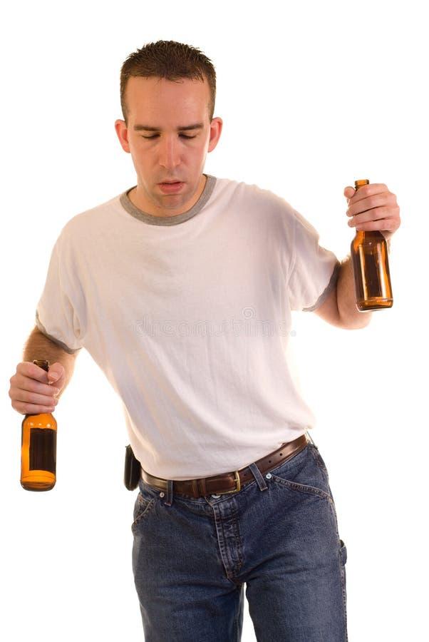 Betrunkener Mann stockbild