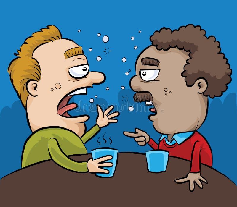Betrunkenes Kneipen-Gespräch vektor abbildung