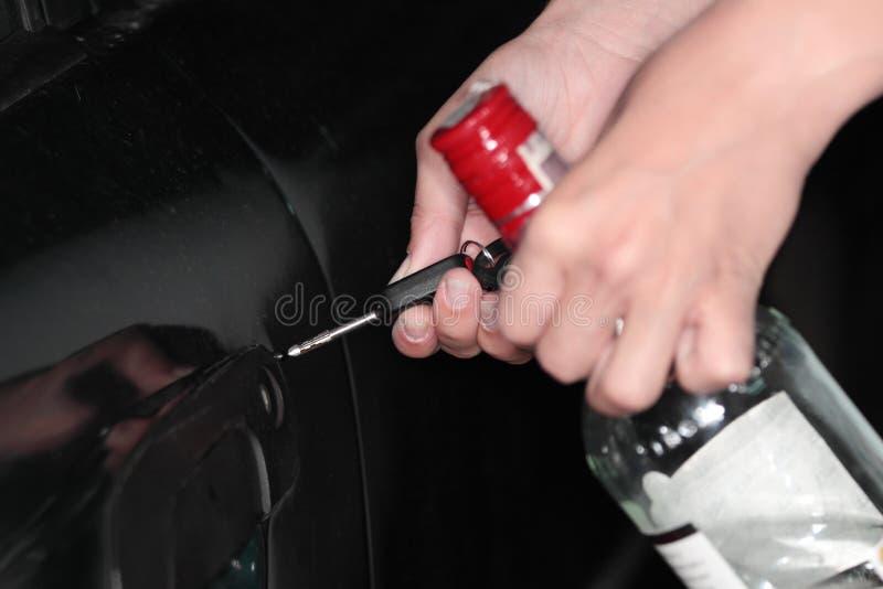 Betrunkenes Treiberkonzept lizenzfreies stockbild