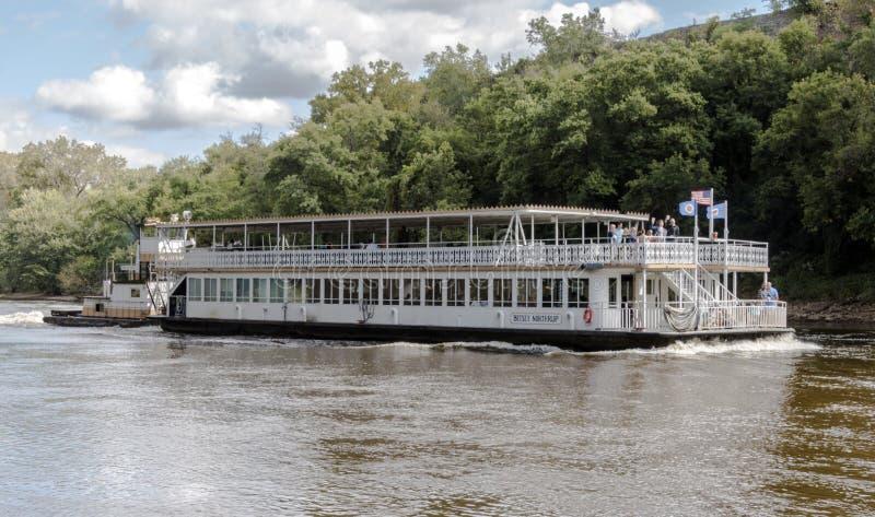 Betsey Northrup на реке Миссисипи стоковая фотография rf