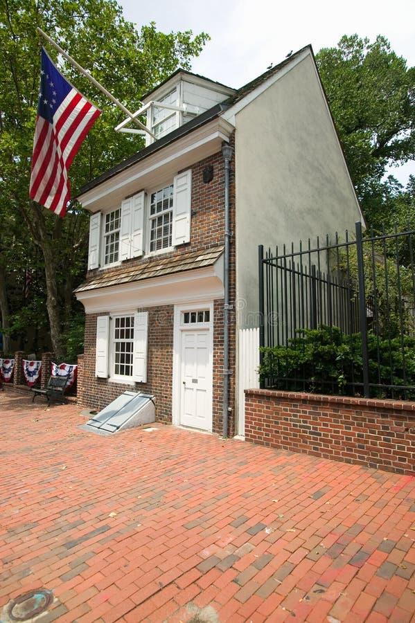 Betsy Ross之家 库存图片