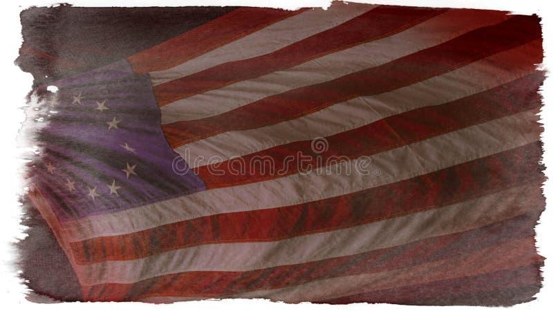 Betsy Ross American Flag. A vintage wallpaper of the original Betsy Ross American flag stock images