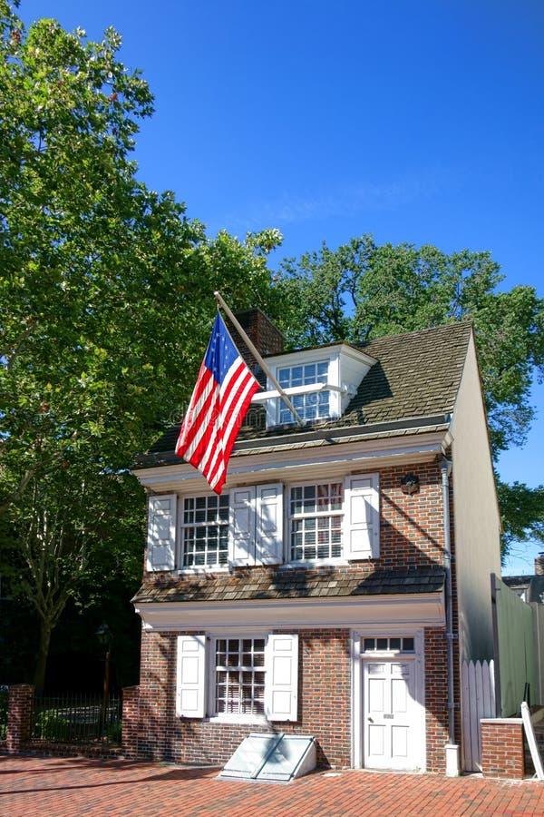 Betsy Ross House in Oud Philadelphia Pennsylvania royalty-vrije stock afbeeldingen