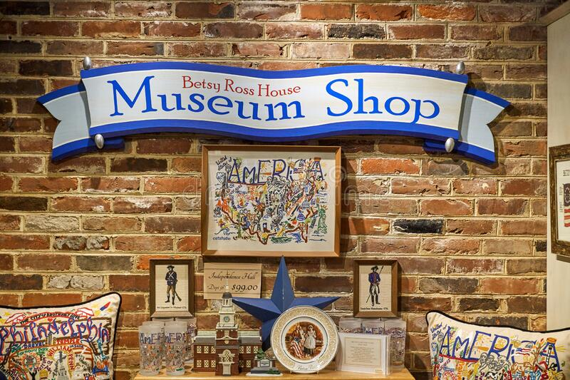 Betsy Ross Museum in the Betsy Ross House royalty free stock photo
