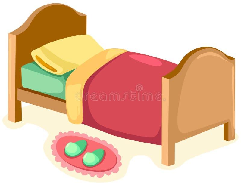 Bett lizenzfreie abbildung