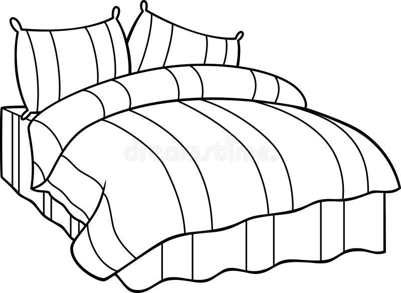 Bett vektor abbildung illustration von abbildung for Bett zeichnung