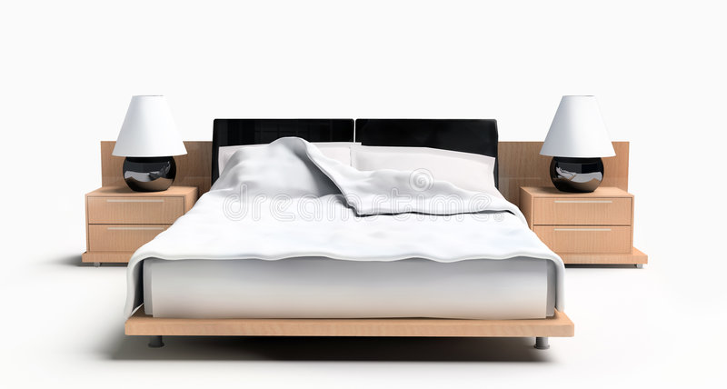 Bett auf einem weißen Hintergrund vektor abbildung
