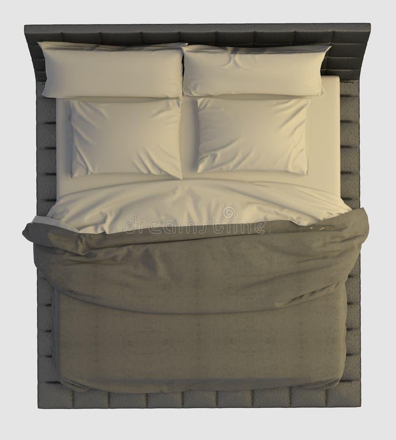 bett draufsicht ber wei stock abbildung bild von. Black Bedroom Furniture Sets. Home Design Ideas