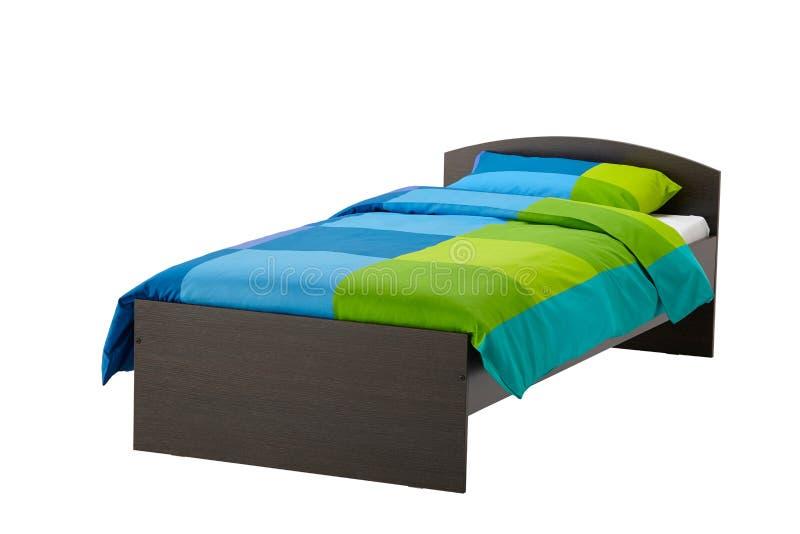 Bett getrennt auf Weiß stockbilder