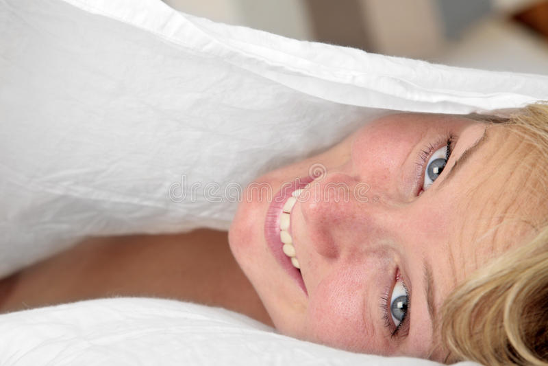 Bett-Portrait stockfotografie