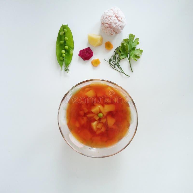 Bett-Suppe lizenzfreies stockbild