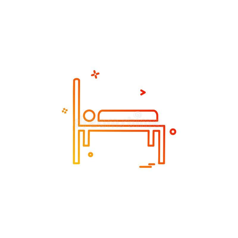 betten Sie Notkrankenhauspatient strature Bahrenikonen-Vektorde stock abbildung