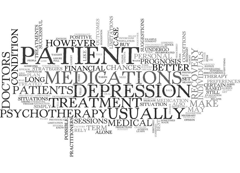 Better Chances For Recovery Word Cloud stock illustration