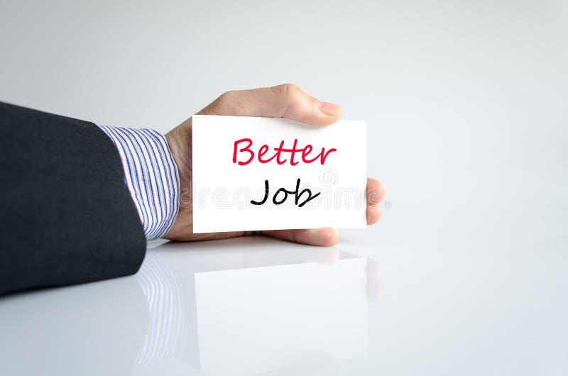 Better job text concept stock photography
