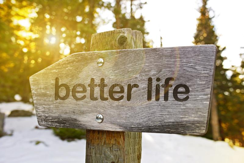 Better Life Trail stock photos