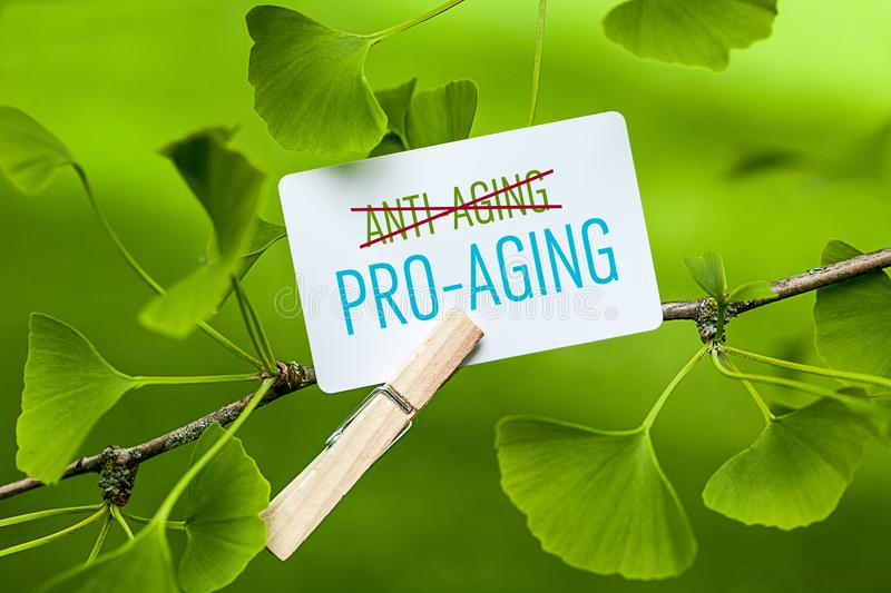 Better Pro-Aging than Anti-Aging stock image