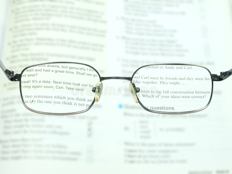 Download Better To Read With The Glasses Stock Image - Image: 4021209