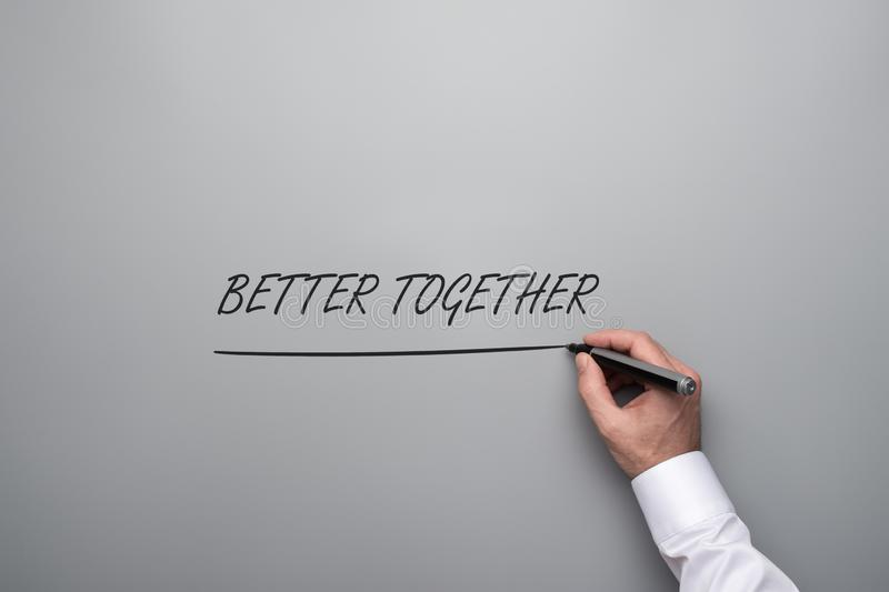 Better together sign royalty free stock photography