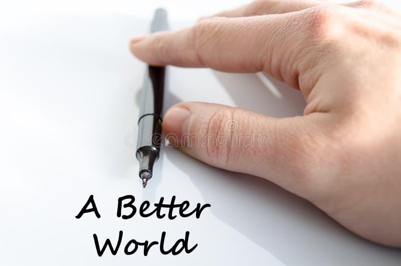 A better world text concept stock photos