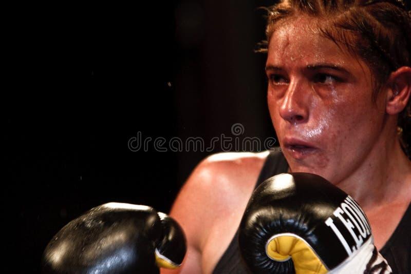 Bettina Garino - emparejamiento del mundo de WBA fotos de archivo