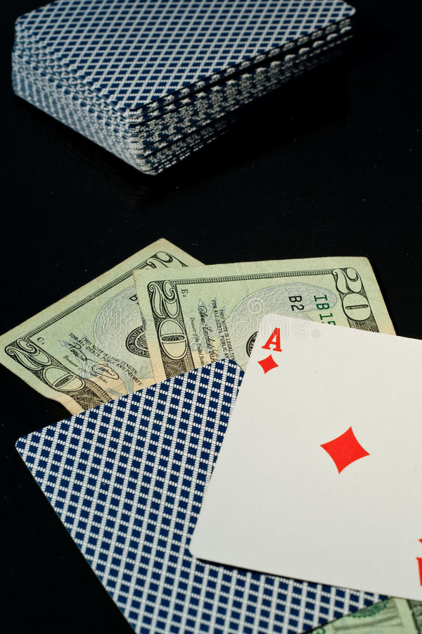Betting It All On Blackjack Royalty Free Stock Image
