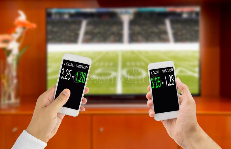 Betting in american football royalty free stock image