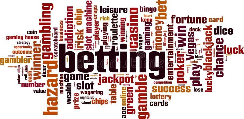 Betting word cloud. Concept. Vector illustration stock illustration