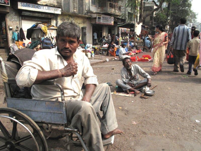 Bettler von Kalkutta stockbild