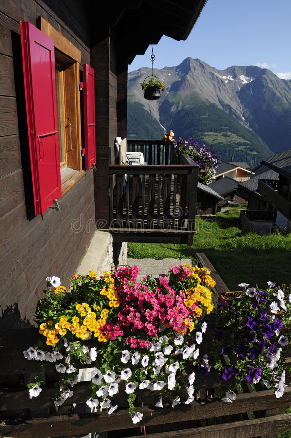 Download Bettmeralp Weekend House Royalty Free Stock Images - Image: 19087529