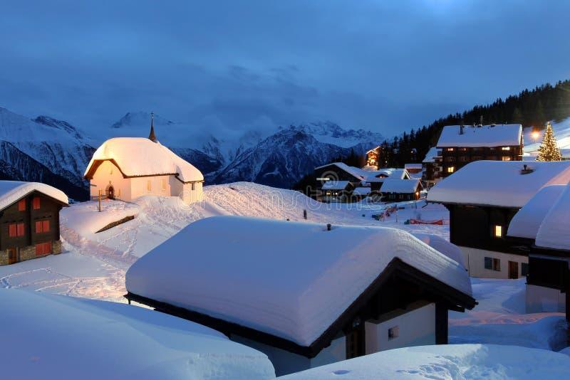 Bettmeralp, Zwitserland royalty-vrije stock foto's