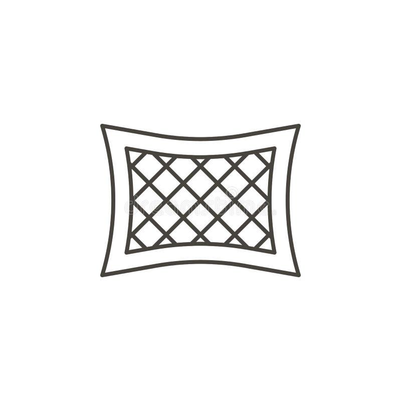 Bettw?sche, Kissenikone - Vektor Nat?rliches Konzept der einfachen Elementillustration Bettw?sche, Kissenikone - Vektor Organisch stock abbildung