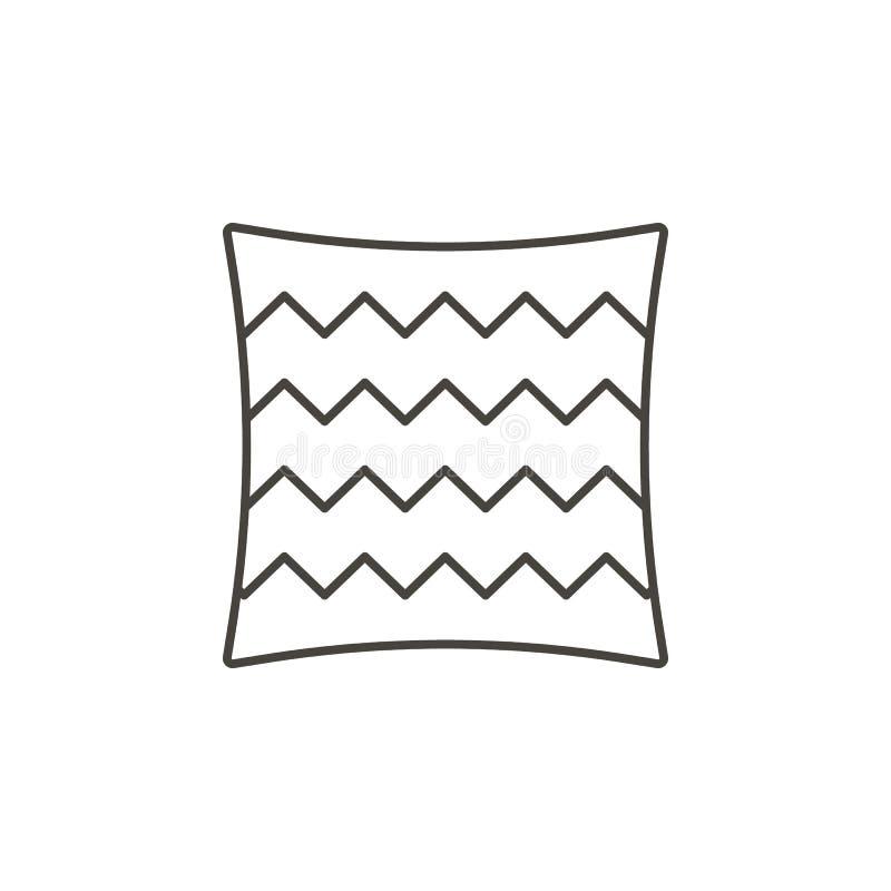Bettw?sche, Kissenikone - Vektor Nat?rliches Konzept der einfachen Elementillustration Bettw?sche, Kissenikone - Vektor Organisch vektor abbildung