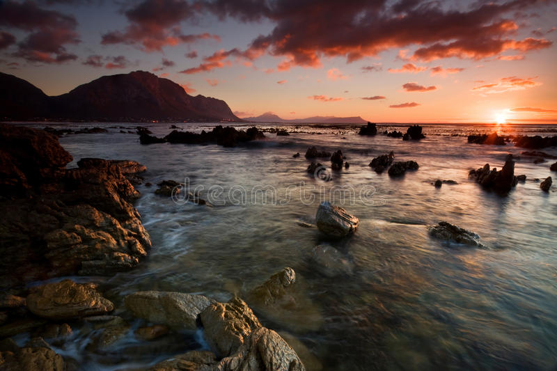 Download Bettys Bay Sunrise stock image. Image of pink, mountain - 12546923